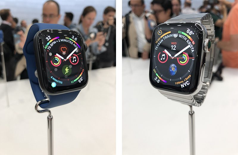 apple watch series 4 hands on larger displays new finishes slightly thinner ecg and more