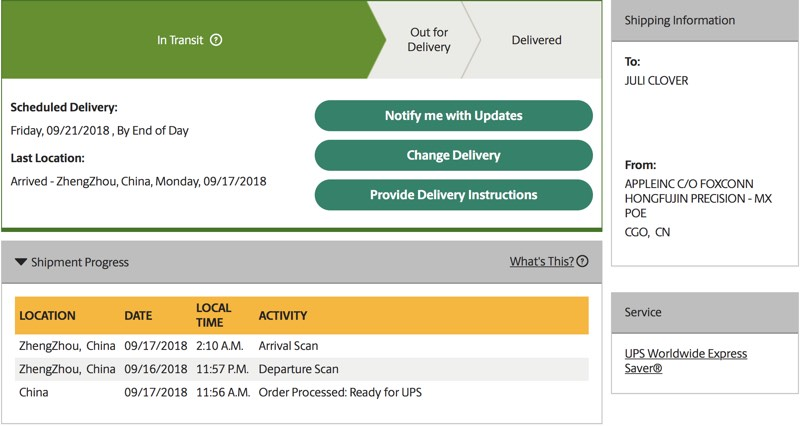 first iphone xs iphone xs max and apple watch series 4 orders begin shipping out to customers