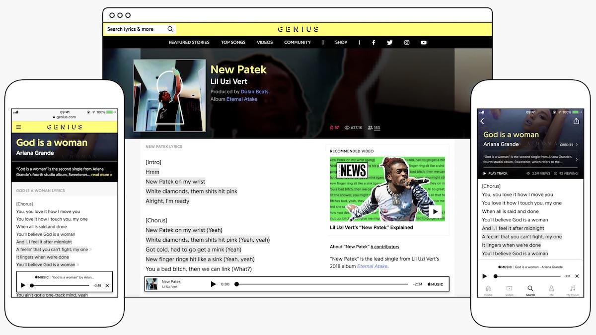 apple music partners with lyric database genius