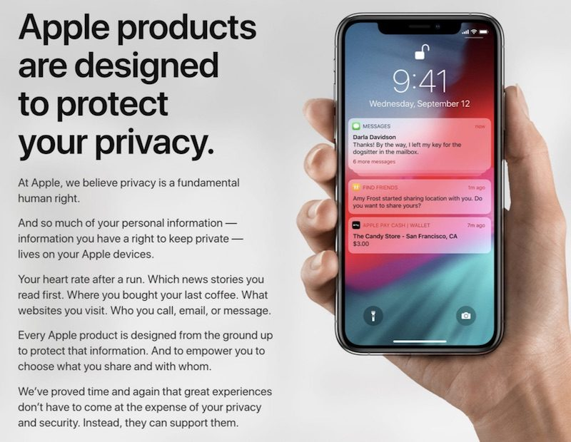 apple s privacy website updated to reflect latest measures taken in ios 12 and macos mojave