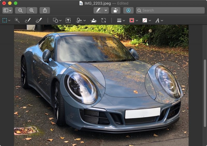how to use the preview loupe tool in macos