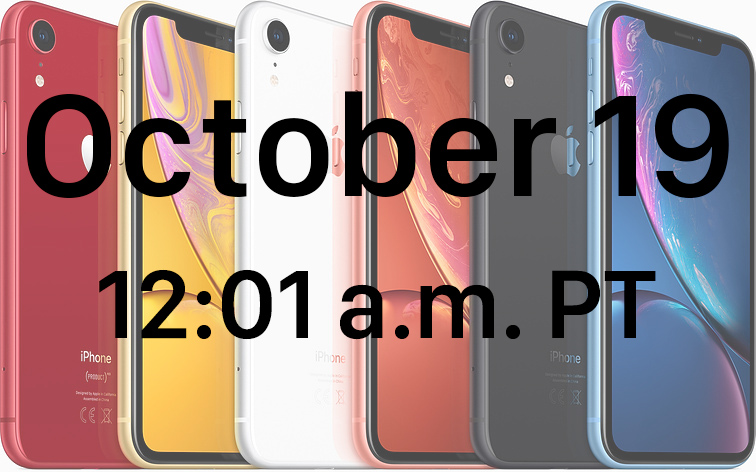 when you can pre order the iphone xr in every time zone