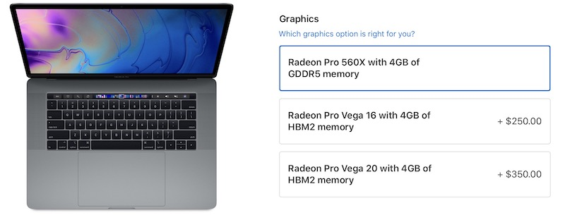 15-Inch MacBook Pro AMD Radeon Pro Vega Graphics Options Now Available to Order