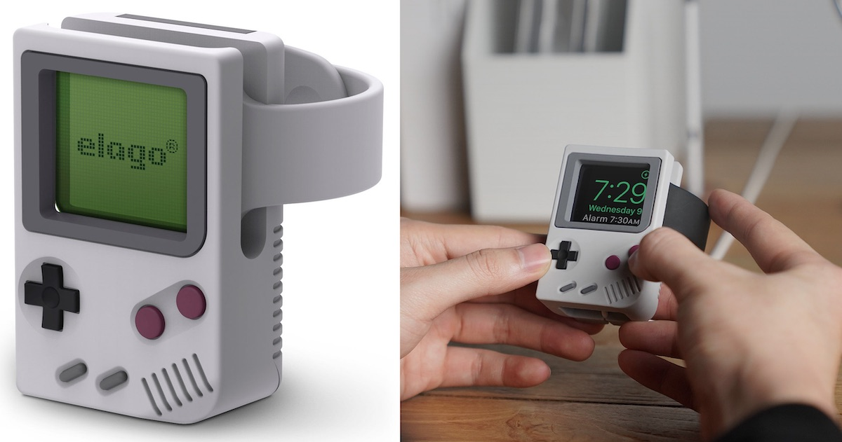 Elago's New 'W5 Stand' Turns Your Apple Watch Into an Original Nintendo Game Boy