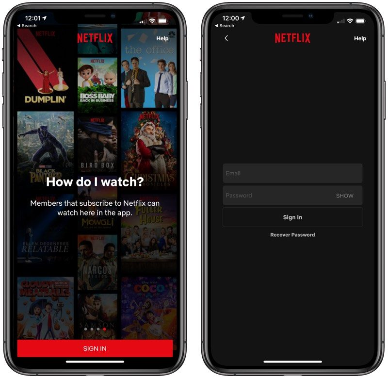 Netflix No Longer Offering In-App Subscription Options on iOS Devices
