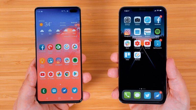 Samsung's New Galaxy S10+ vs. Apple's iPhone XS Max