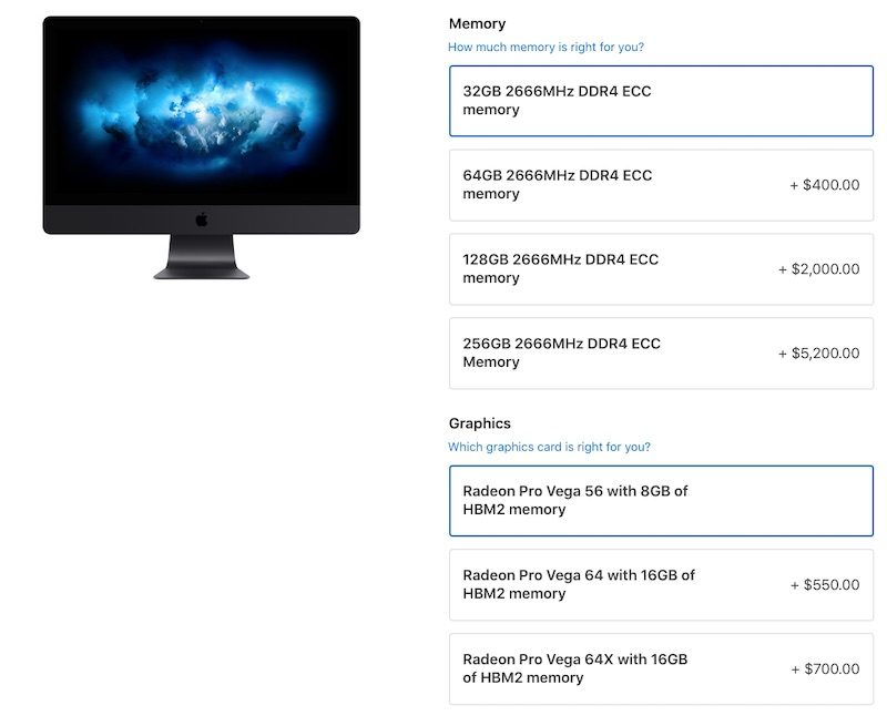 iMac Pro Updated With 256GB RAM and Radeon Pro Vega 64X Graphics Options