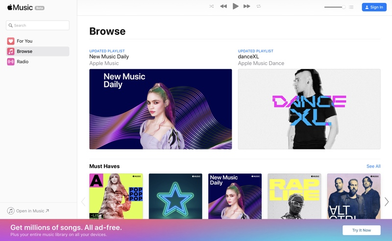 Apple Launches Apple Music on the Web Beta