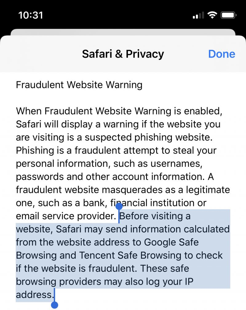 Apple Clarifies Tencent's Role in Fraudulent Website Warnings, Says No URL Data is Shared and Checks are Limited to Mainland China