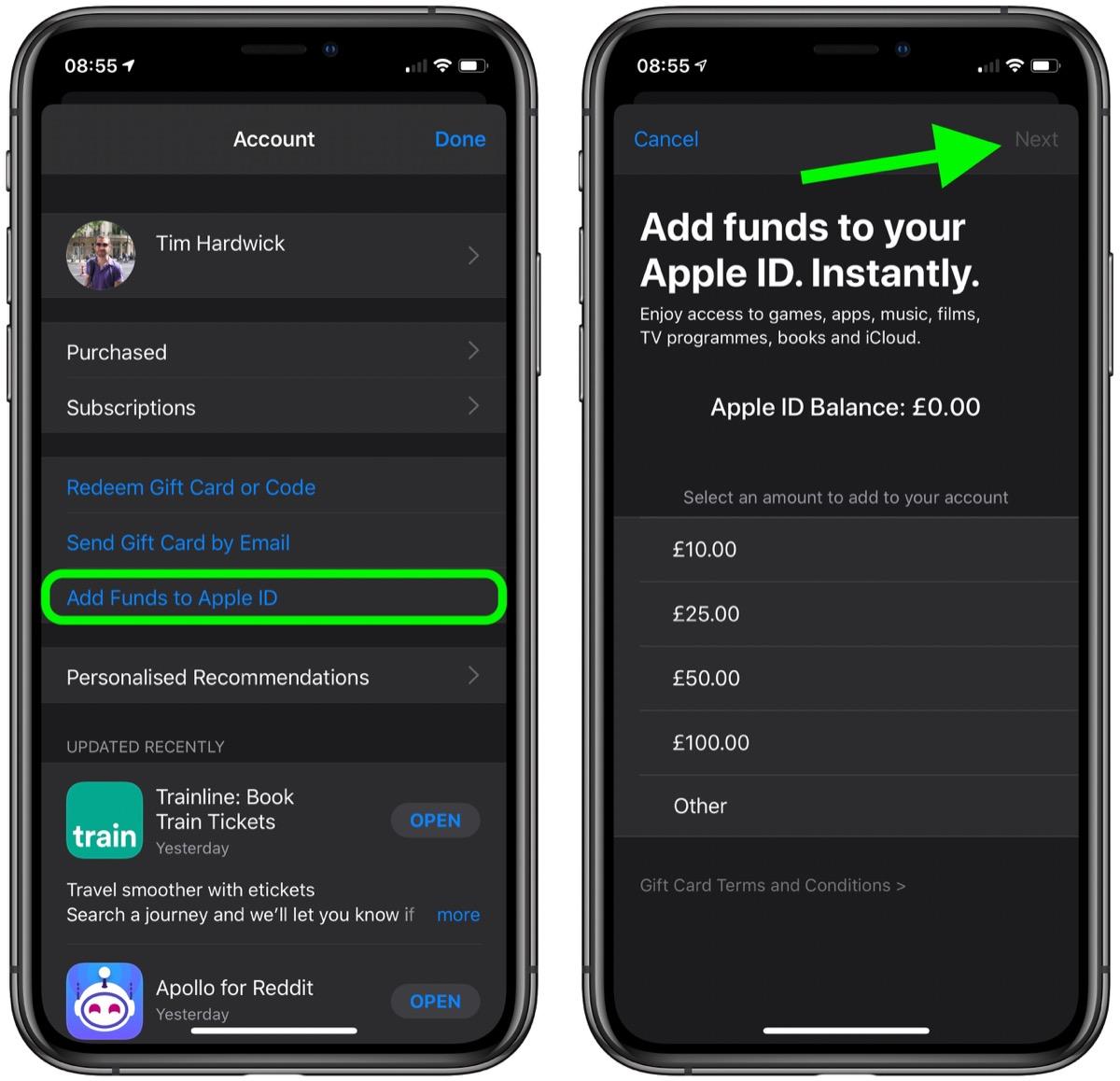 如何在 iPhone 和 iPad 上为 Apple ID 充值余额?