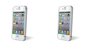 White CDMA iPhone 4 icon Itunes Icon Iphone