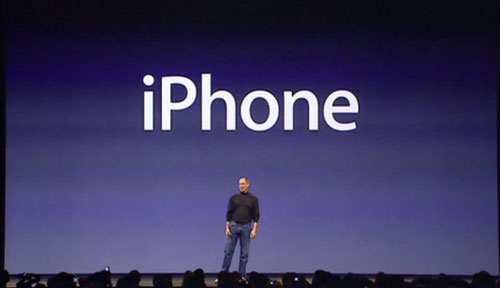 Steve Jobs launching iPhone