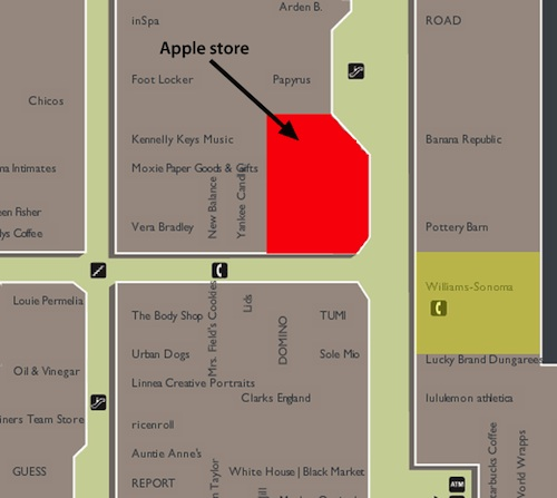 Apple Digs at Microsoft With Bellevue Store Relocation - MacRumors on bellevue washington zip code map, city of bellevue ohio map, bellevue mall map, bellevue collection map, the shops at willow bend map, southcenter mall map, boeing bellevue map, totem lake mall map, glenbrook square map, washington square map, town square store map, bellevue ia map, bellevue college map, the space needle map, bellevue place map, bellevue transit center map, south bellevue map, overlake hospital medical center map, assembly square map, bellevue wa map,