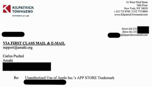 earlier this week open source startup amahi reported on its blog via the next web that apple had served the company with a cease and desist letter