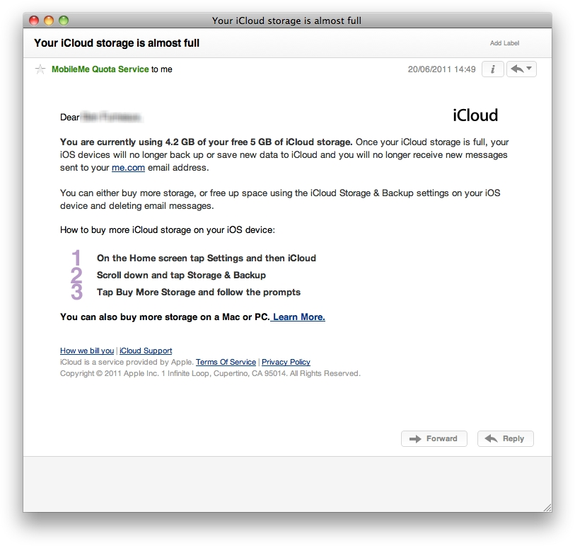 how to make an icloud email on mac