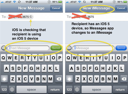 how to bring contacts in apple message