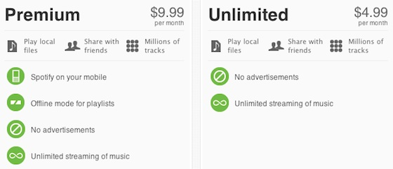 spotify makes u s debut with paid plans and invite only free service macrumors. Black Bedroom Furniture Sets. Home Design Ideas