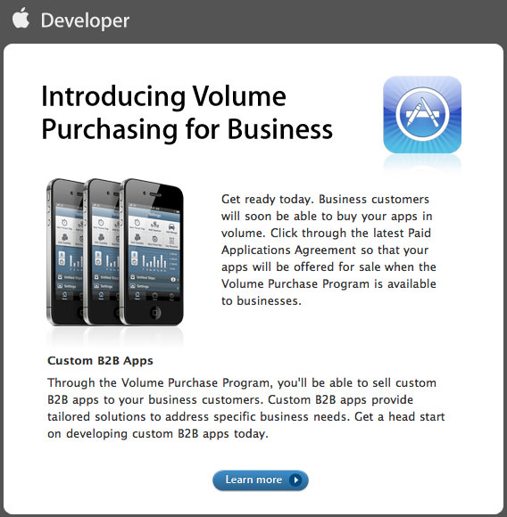Apple Introduces Volume App Purchasing For Business And B2b Apps