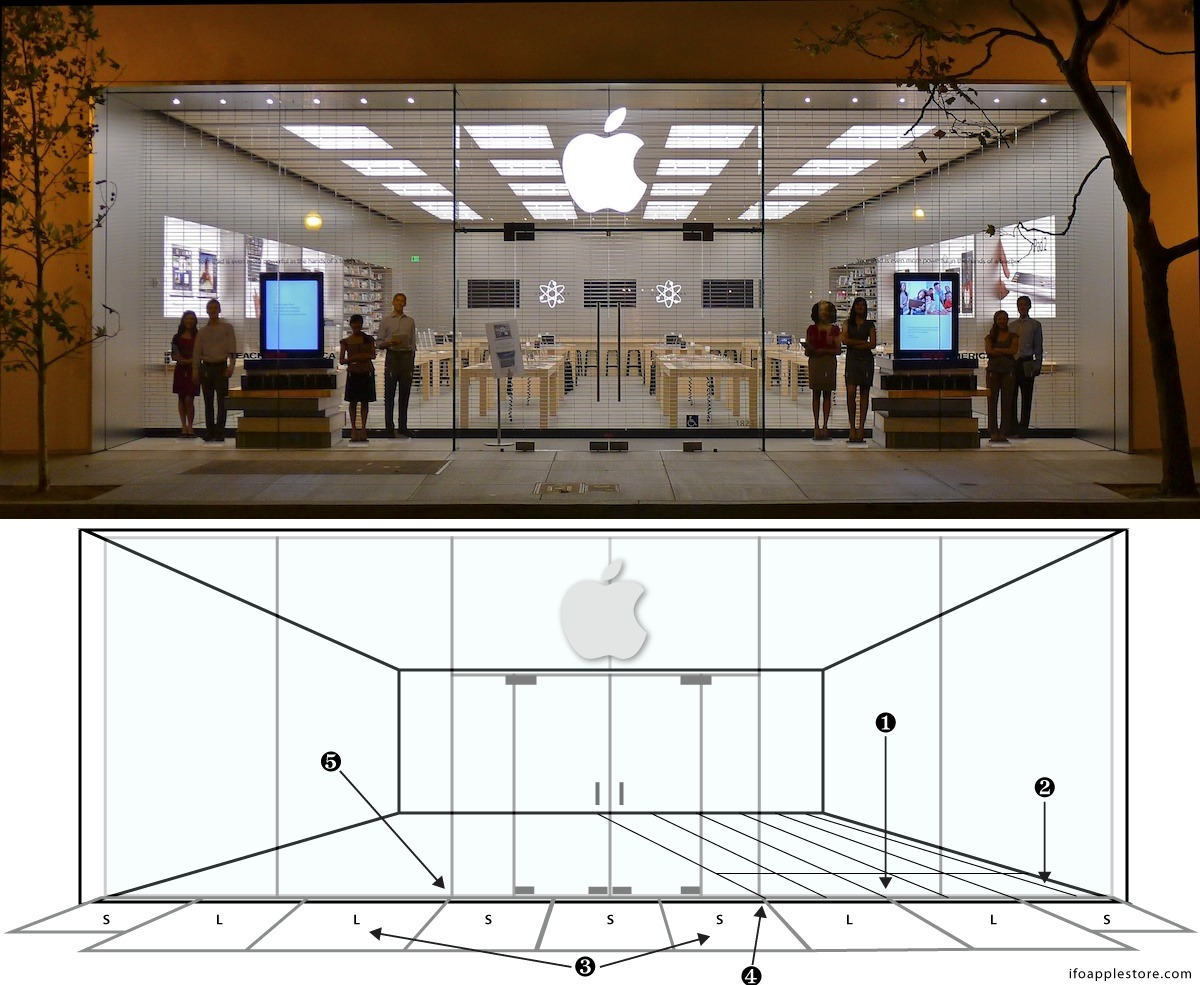 new apple retail store design is perfectly symmetrical mac rumors. Black Bedroom Furniture Sets. Home Design Ideas