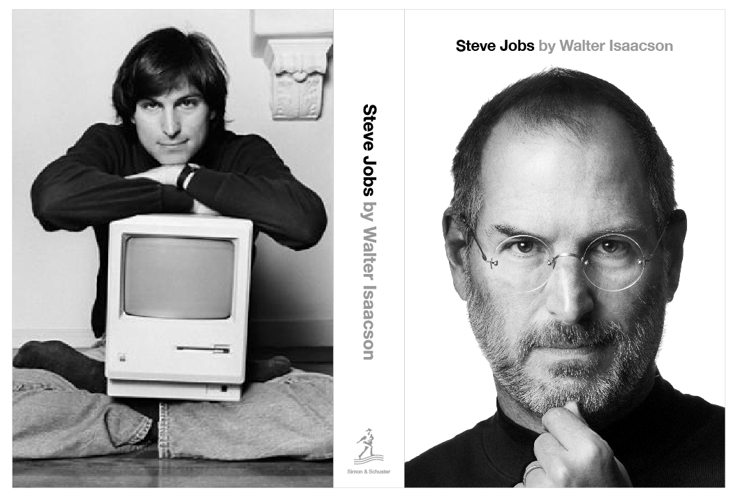 Book Cover Photography Jobs : Photo of steve jobs biography cover back and some
