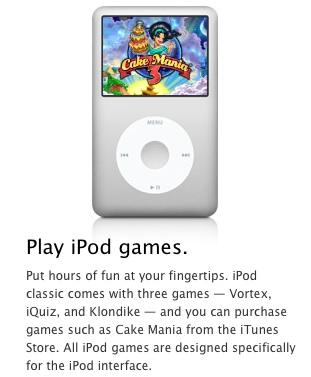 apple removes ipod click wheel games from itunes mac rumors rh macrumors com iPod Classic 8th Generation iPod Classic 1st Generation