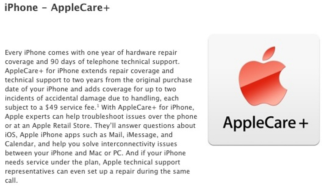 applecare plus iphone apple launches applecare with iphone damage 1724