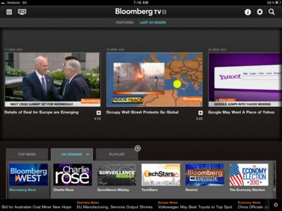 Bloomberg Tv And Directv Debut New Live Streaming Services -3885