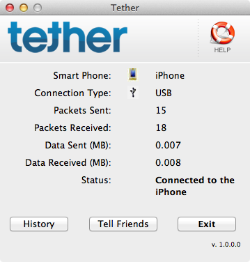 iTether App Offers Internet Tethering On Your iPhone for One Time