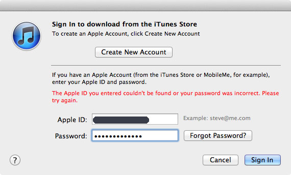 log apple id