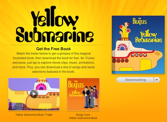 the beatles 39 39 yellow submarine 39 hits ibooks as free animated e book macrumors. Black Bedroom Furniture Sets. Home Design Ideas