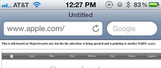 Address Bar Security Issue Found in iOS 5 1 Safari - MacRumors