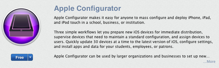 Apple Releases Configurator App for Mac to Mass Configure