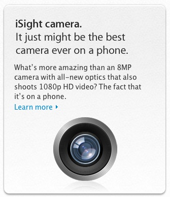 Apple Extends 'iSight' Name to iPhone 4S and iPhone 4 Rear Cameras ...