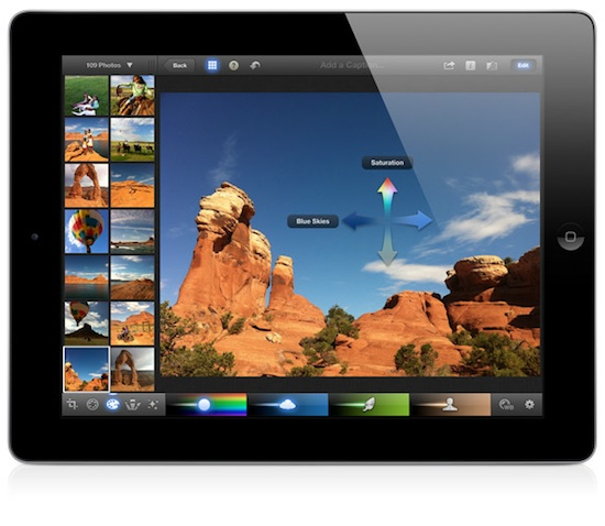 apple launches iphoto for ipad with photo editing and organization features macrumors. Black Bedroom Furniture Sets. Home Design Ideas