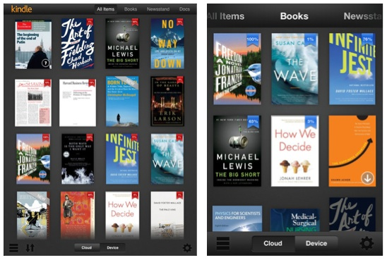 Kindle For Ios Updated With Retina Ipad Support New Library