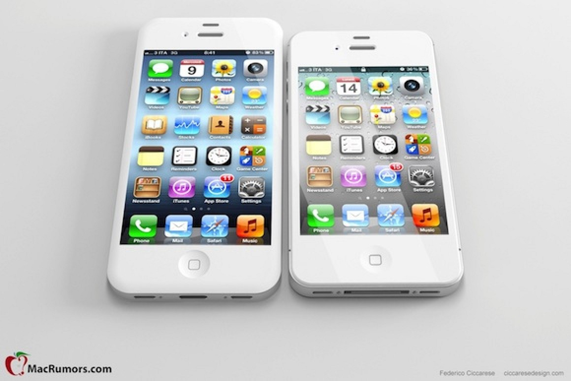 how tall is an iphone 5 what a iphone 5 with 4 inch display looks like 18529
