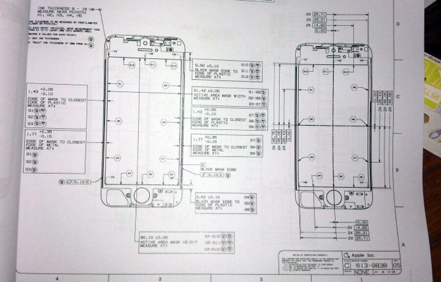 Schematic purportedly shows next generation iphone front panel schematic purportedly shows next generation iphone front panel design with 4 inch display ccuart Images