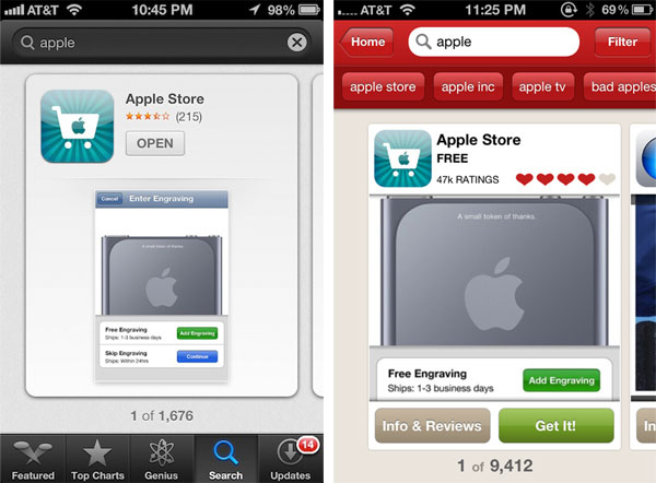 Apple Adds 'Chomp' Styled App Store Search Results and More