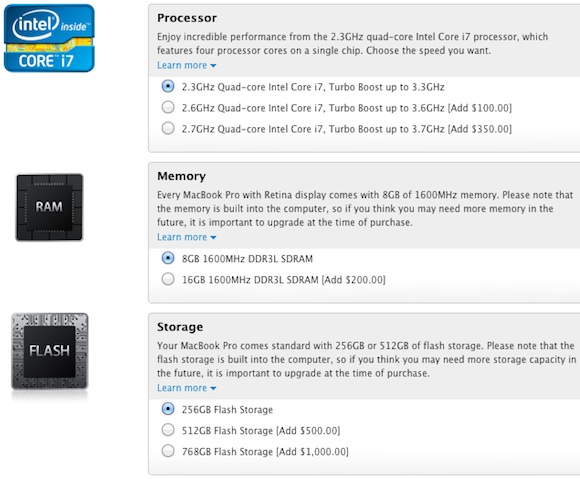 Apple Expands Build-to-Order Configuration Options on Retina