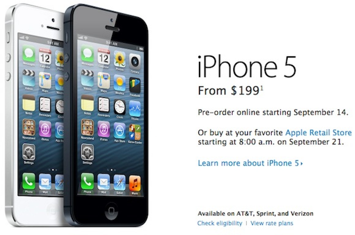 we buy iphones iphone 5 pre orders set to begin at 12 01 am pacific time 1201