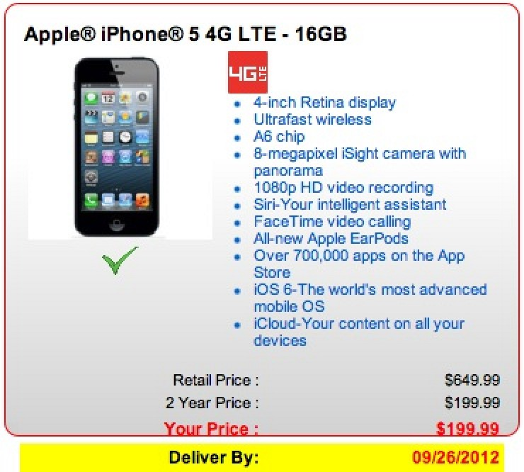 at t iphone 5 on verizon new iphone 5 pre orders through verizon slip to september 6089