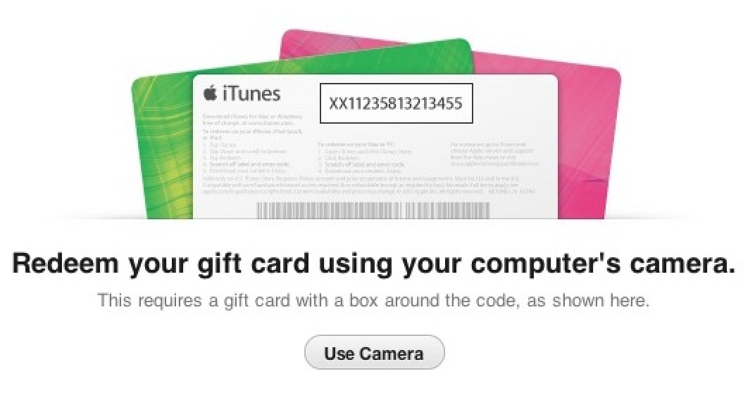 iTunes 11 Store Adds Gift Card Redemption Via Camera - Mac ...