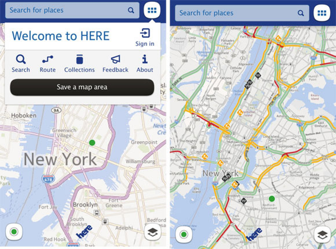 nokia launches free mapping alternative for ios 39 here maps 39 mac rumors. Black Bedroom Furniture Sets. Home Design Ideas