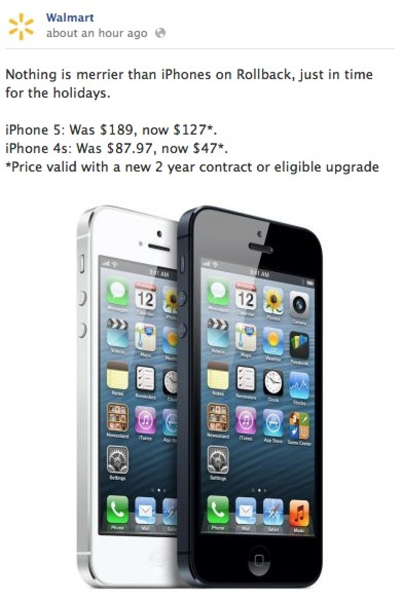 Walmart Offering iPhone 5 for $127, Third-Generation iPad ...