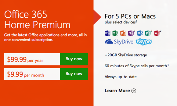 Microsoft Launches Office 365 Subscriptions Alongside Office