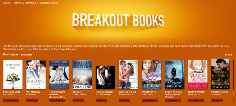 Apple Promotes Self Published Titles With New Breakout Books
