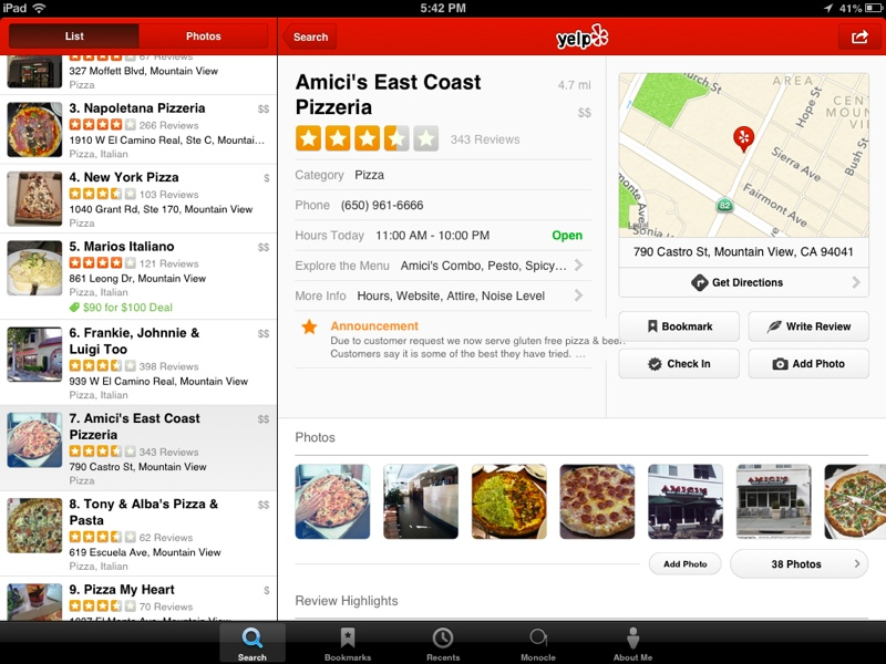 Yelp Updated with Improved Social Features and Streamlined