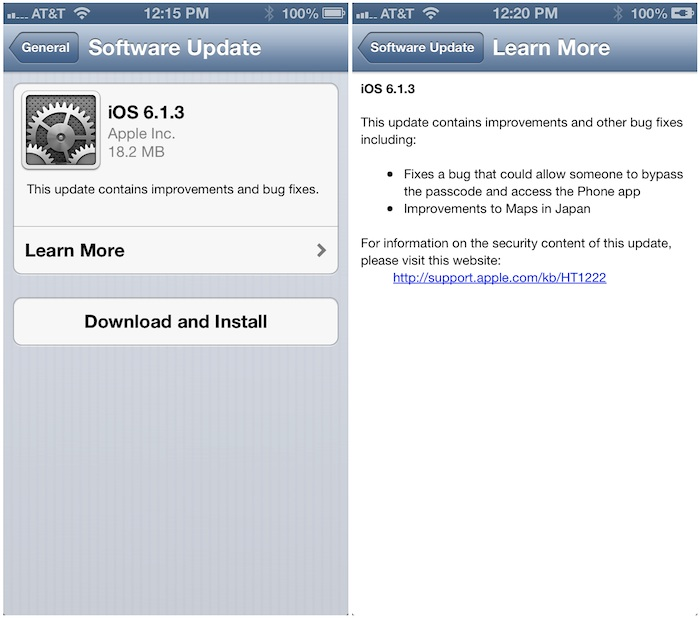 Apple Releases iOS 6 1 3 With Passcode Bug Fix and Japanese
