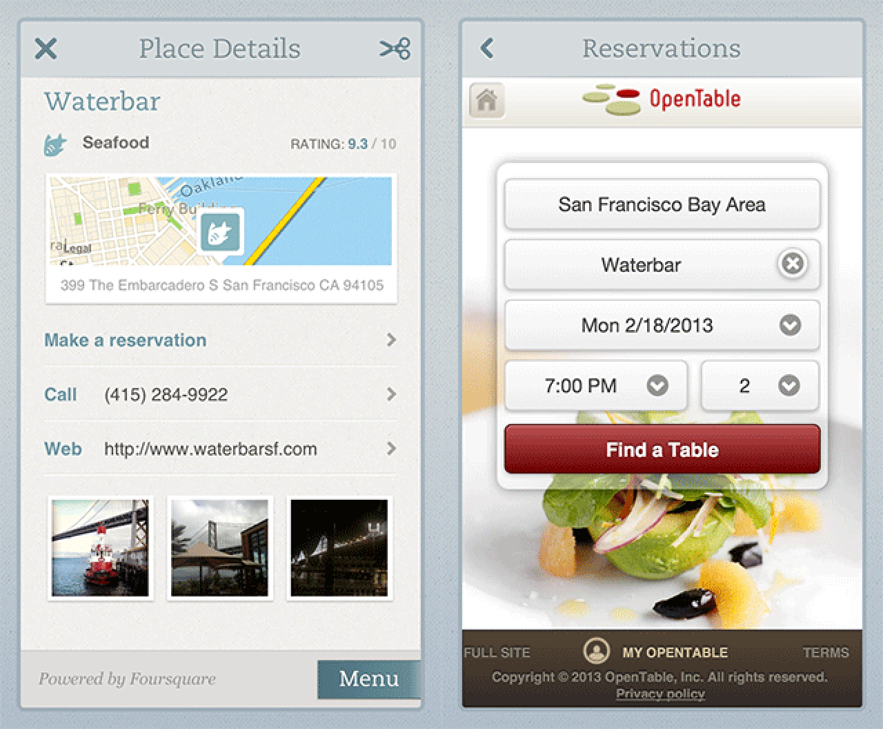 Evernote Food Updated To Include OpenTable Reservations And - Open table reservation system