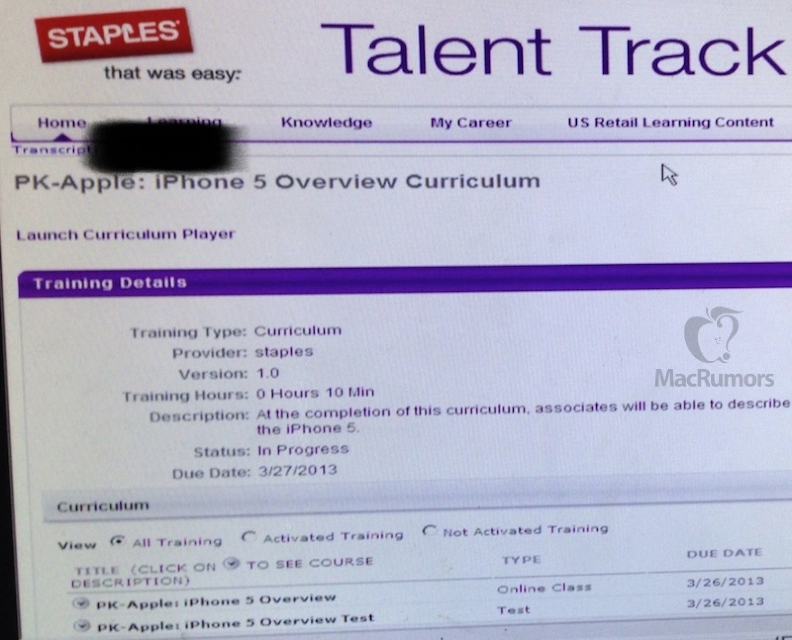 Staples Associates Training to Support iPhone, iPad, and Mac